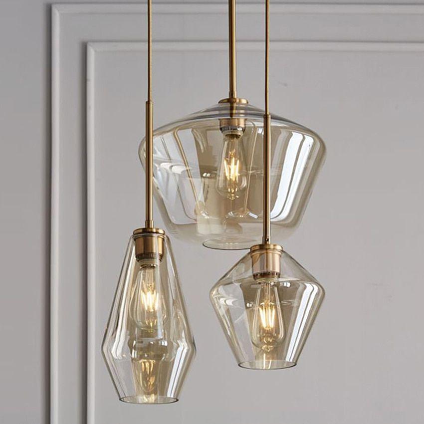 Nórdico moderno lâmpada do teto de 1/3 cabeças de madeira