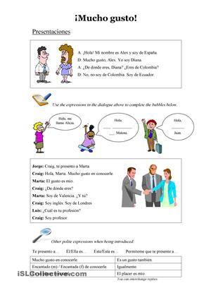 Presentaciones - Información personal - Partes del nombre - Trabajos ...