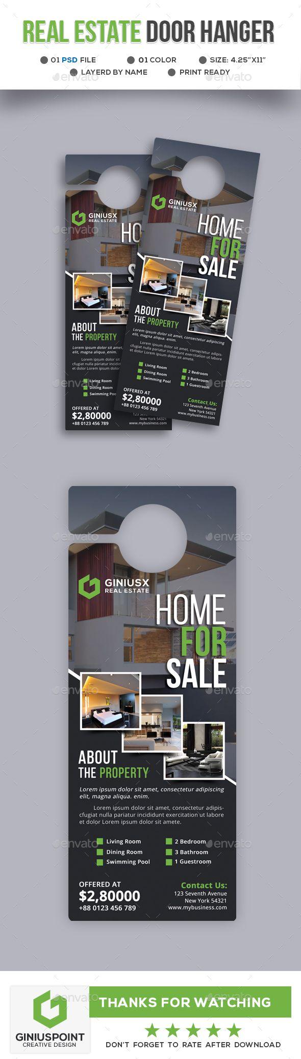Real Estate Door Hanger | Hanger, Real estate and Door hanger template