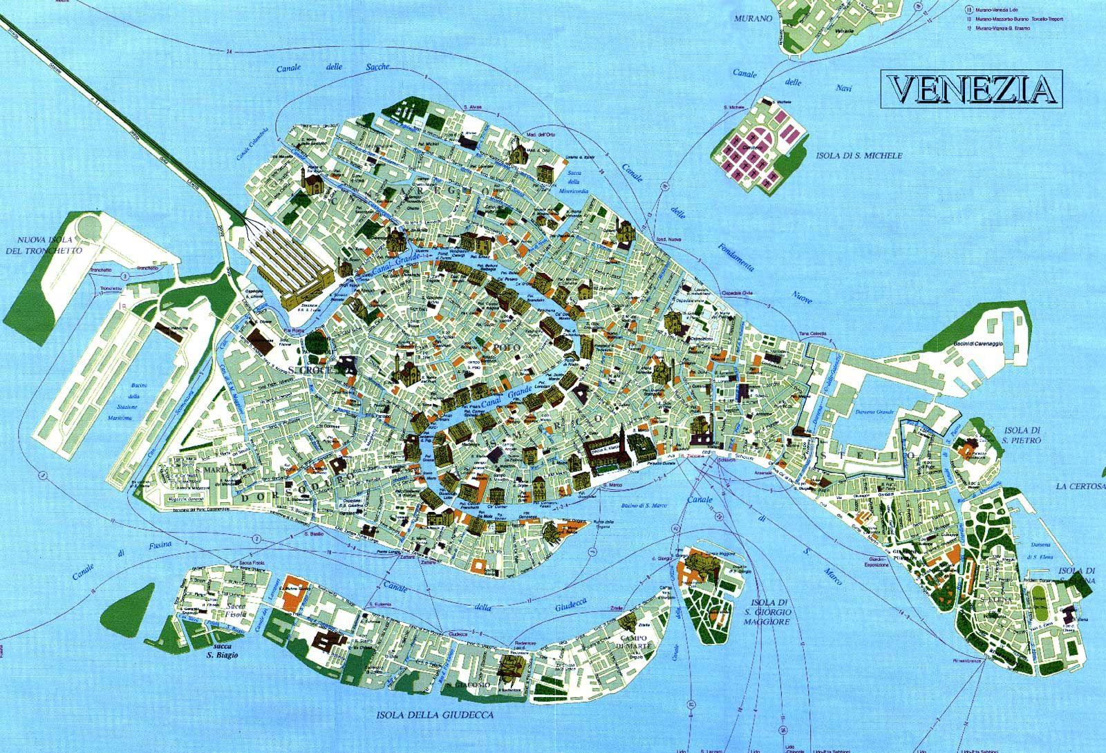 Tourist Map Venice Venezia