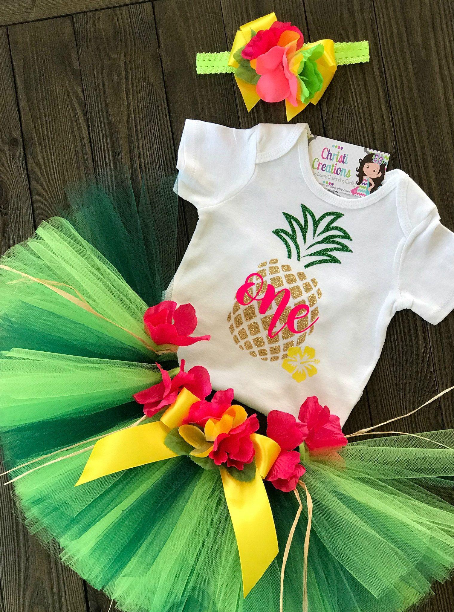 1st birthday outfit pineapple luau birthday tutu smash