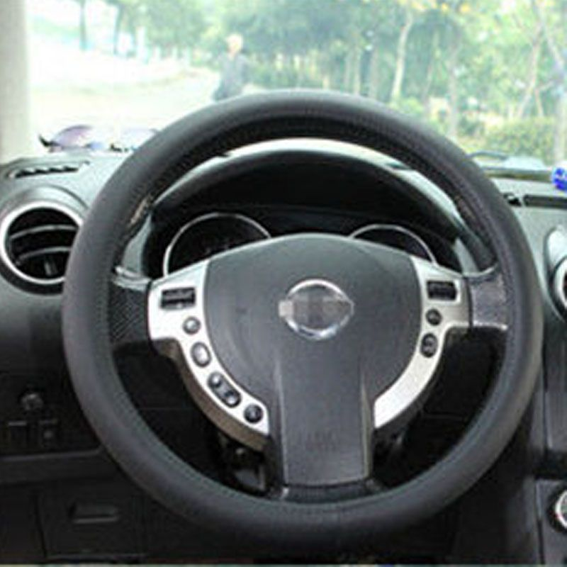car leather texture soft silicone steering wheel cover 36 40cm multi