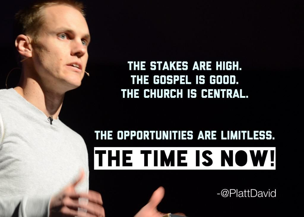 The Time Is Now!  -@PlattDavid #SBC15