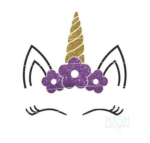 Floral Unicorn svg unicorn baby shower svg baby girl svg | Vinyl ...