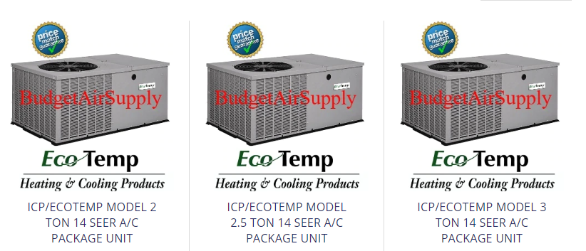 Ecotemp Icp A C Package Units The