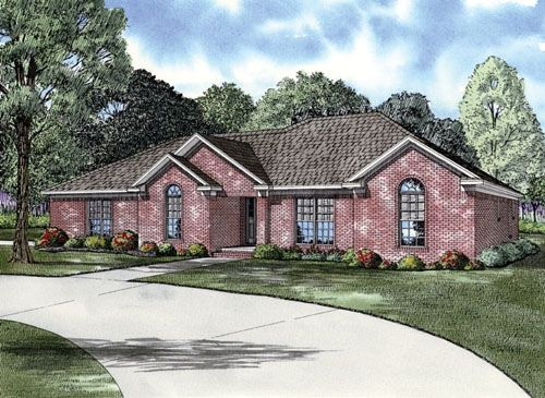 European Ranch Traditional House Plan 62127 Elevation
