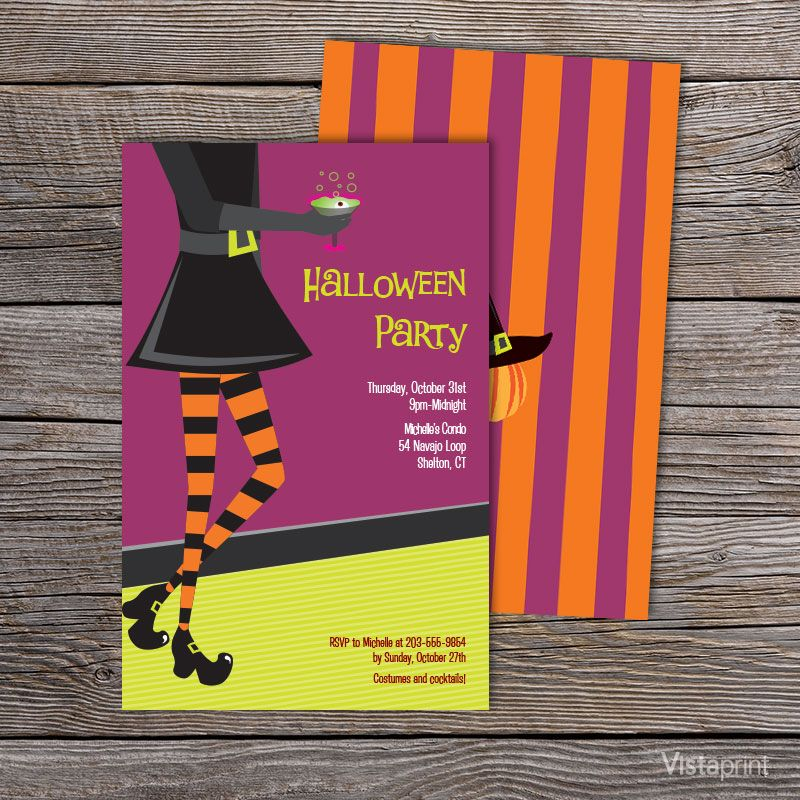 Witches Potion Halloween Party Invitation | Vistaprint | Halloween ...