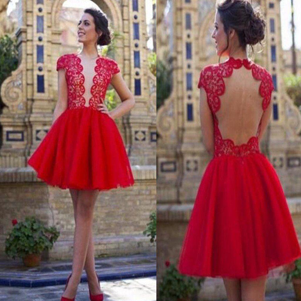 Red dress prom dress homecoming dress cocktail dress sexy dress