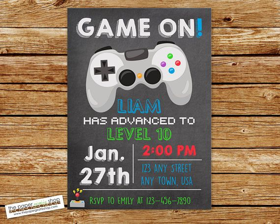 Video game invitation video game birthday gaming invitation video game invitation video game birthday gaming invitation video game birthday invitation video game party gamer invitation stopboris Image collections