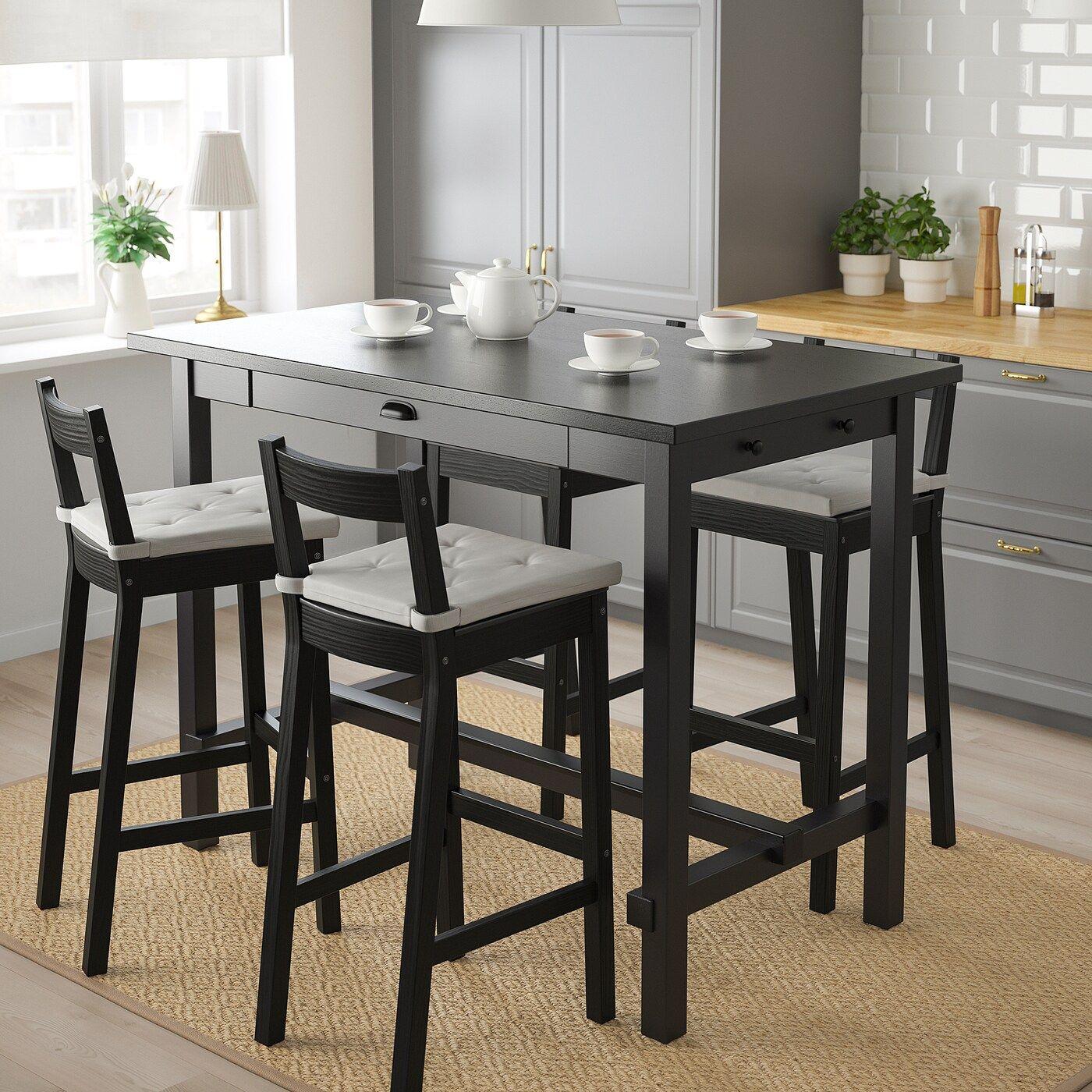 NORDVIKEN / NORDVIKEN Theke + 9 Barstühle   schwarz/schwarz   IKEA ...