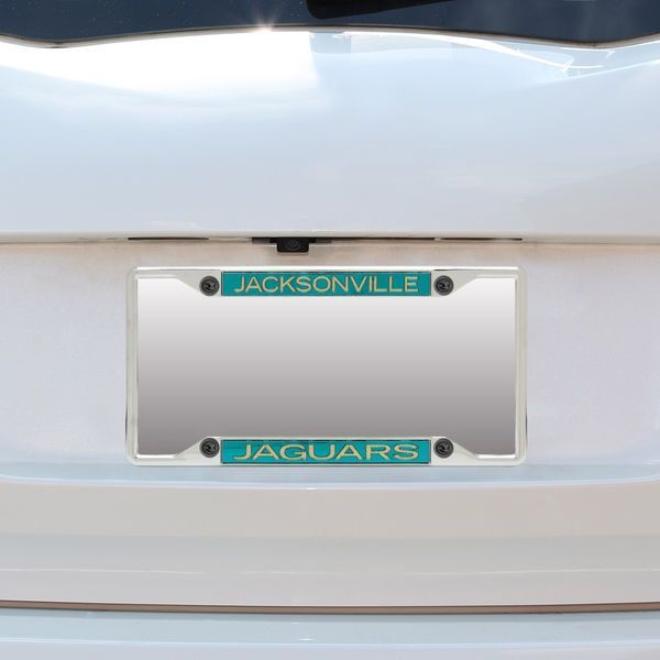 Jacksonville Jaguars Small Over Small Mirror License Plate Frame ...