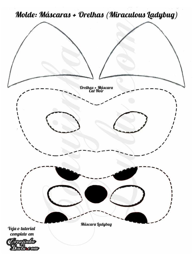 Resultado De Imagem Para Molde Da Ladybug Com Imagens Mascaras