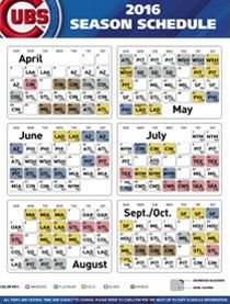 Cubs Printable Schedule Ideas For Dinner Schedule What Team