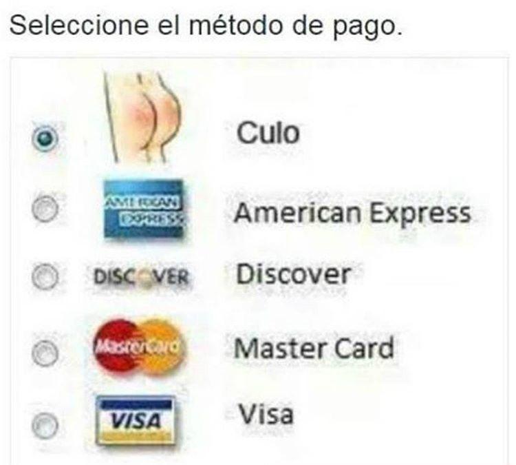 Seleccione usted su metodo de pago
