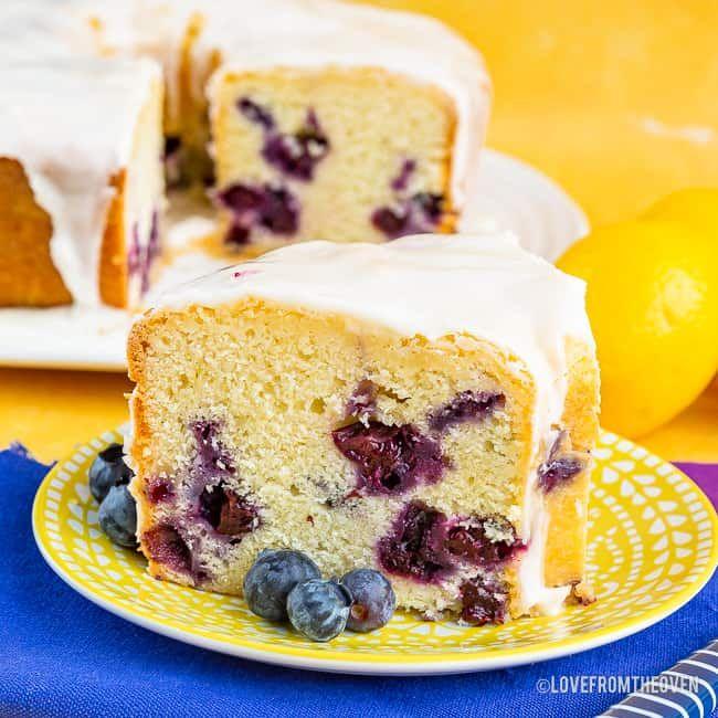 Lemon Blueberry Pound Cake In 2020