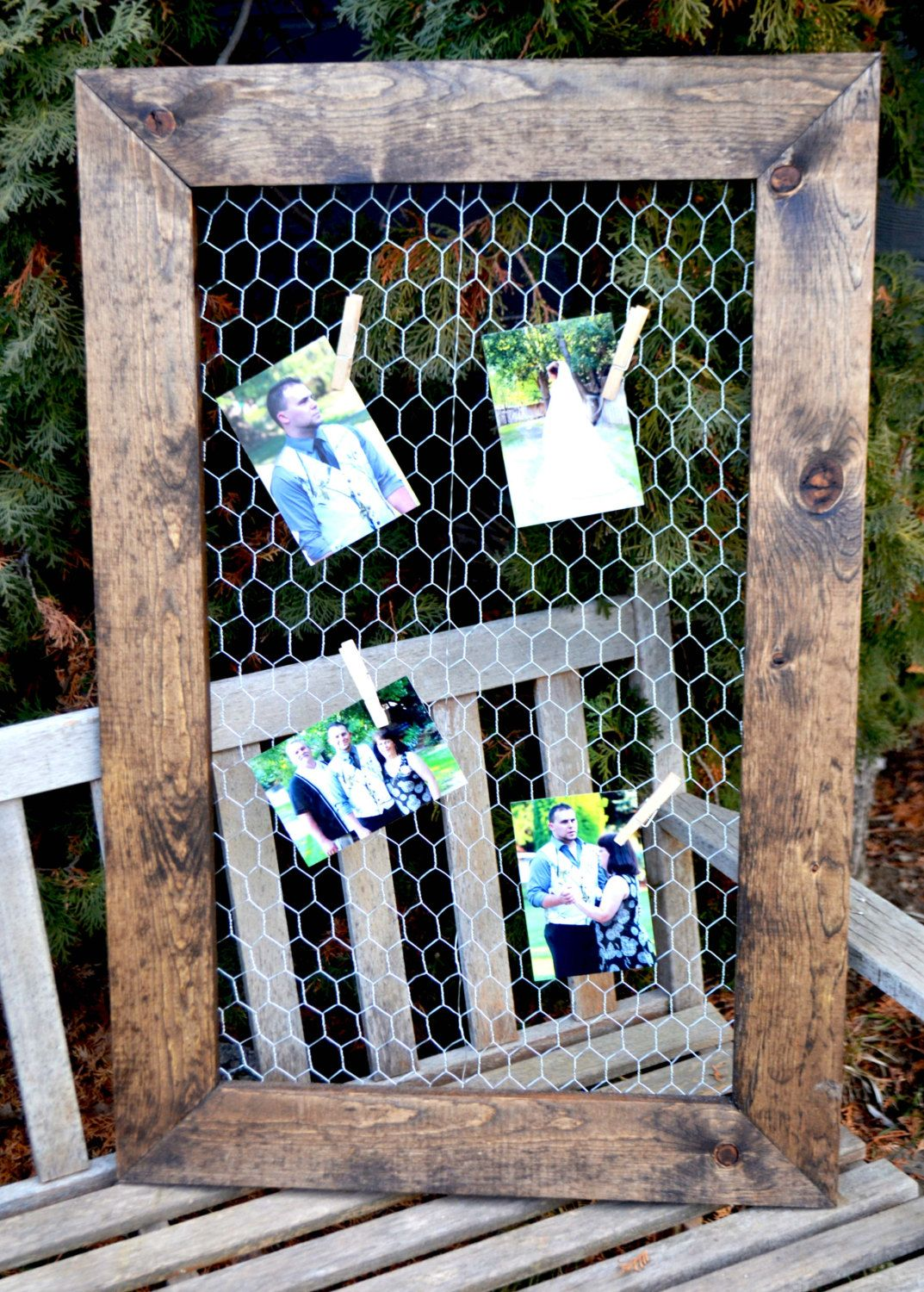 Chicken Wire Frame 24x36Rustic Frame Picture by