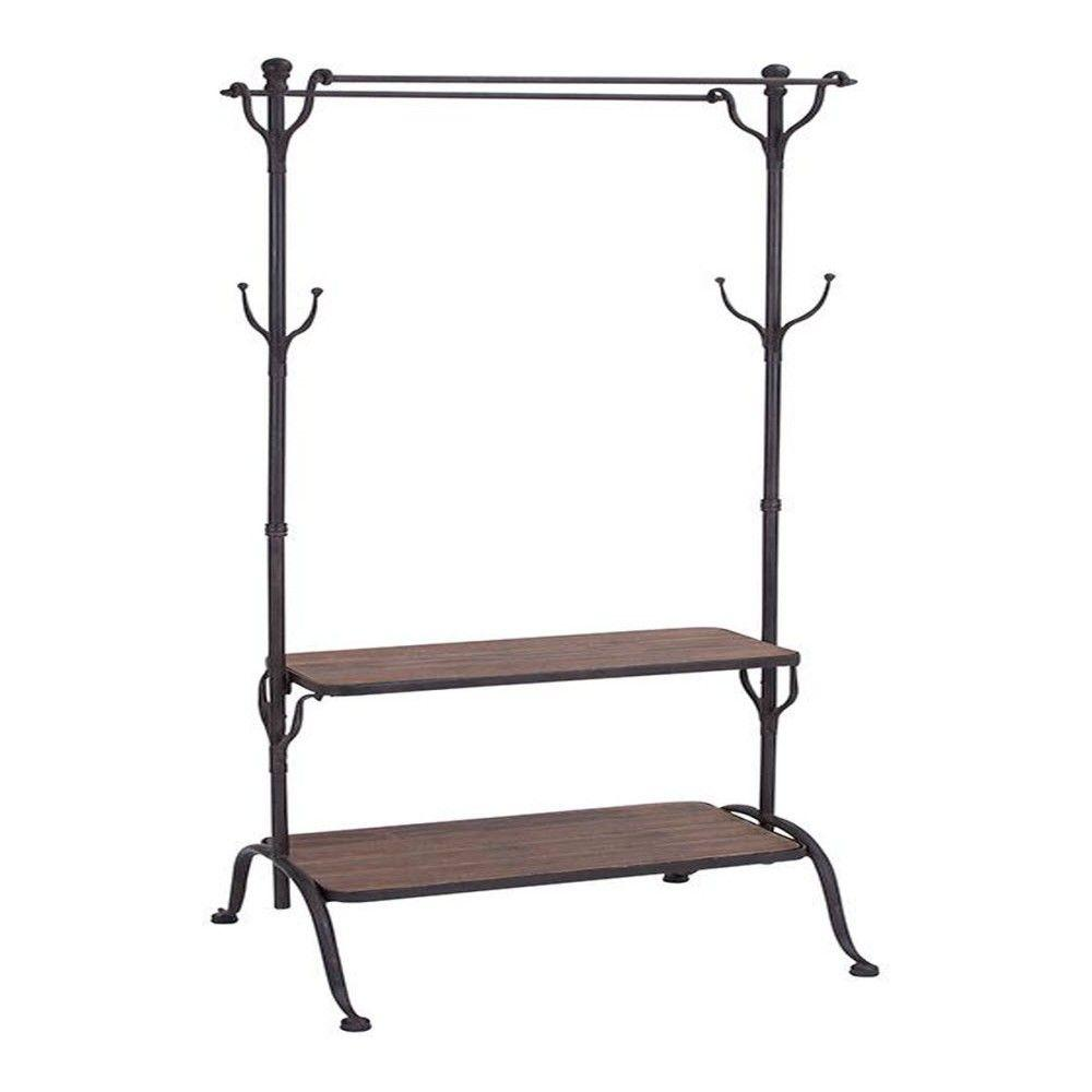 Home Depot Garment Rack Brilliant Adeline Black 69 Inh Clothes Rack  69 Clothes Racks And Black Decorating Inspiration