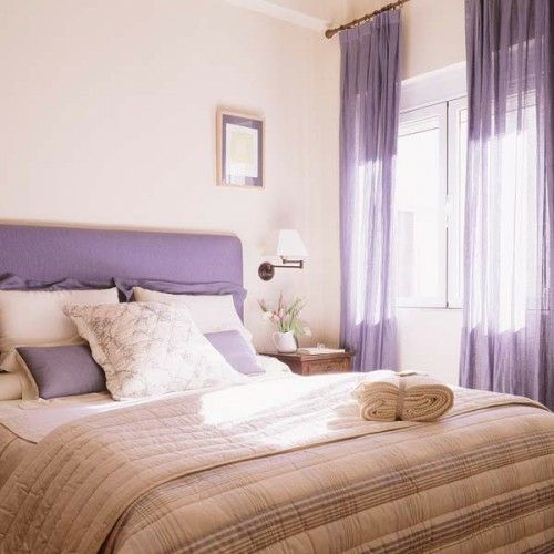 22 Wunderschöne Ideen Für Dekorative Vorhänge Zu Hause   Dekorative  Vorhänge Hell Lila Farben Schlafzimmer Idee