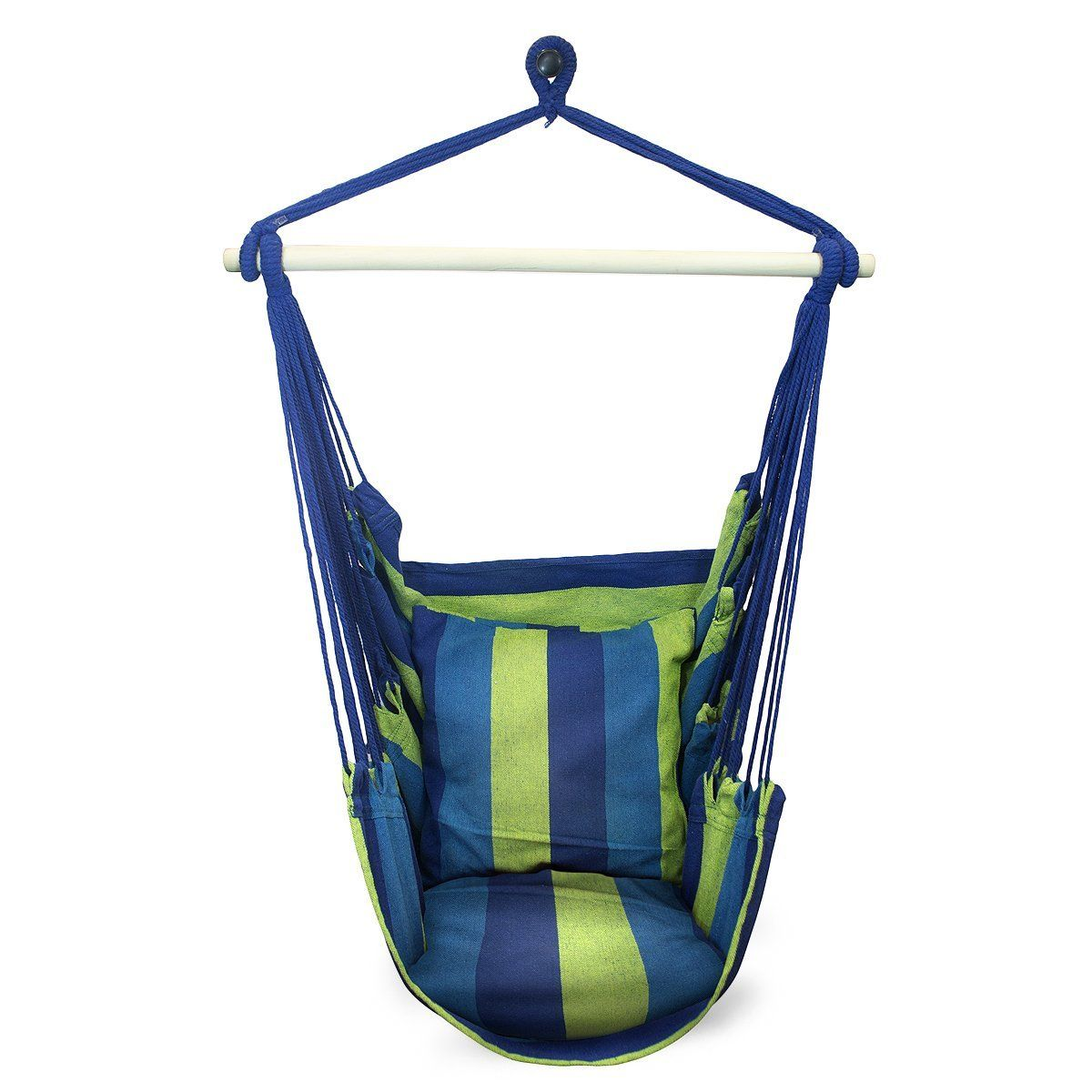 sorbus blue hanging rope hammock chair swing seat for any indoor or outdoor spaces  max  nice top 10 best hammock chairs and swings in 2017 reviews   sport      rh   pinterest