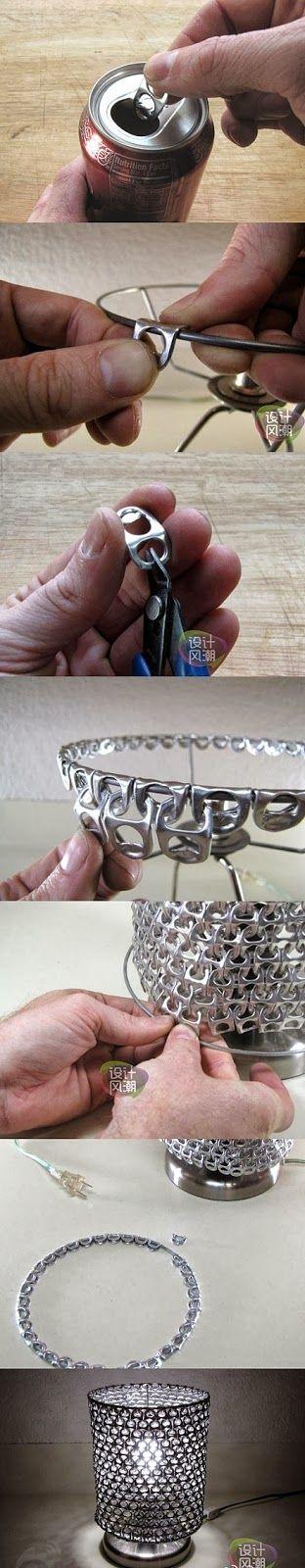 Diy Pop Ring Lampshade