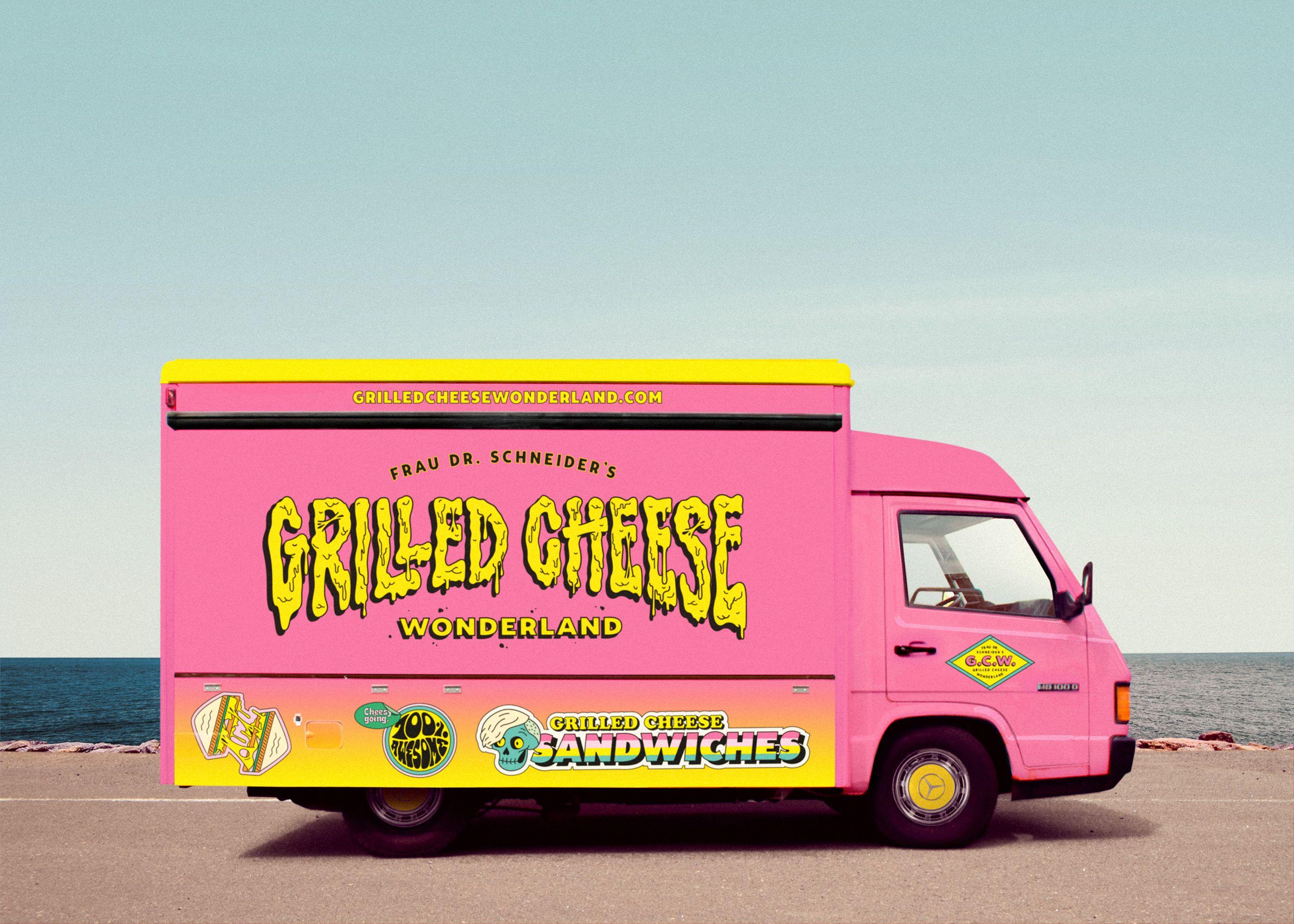 Fdrss grilled cheese wonderland foodtruck on behance 푸드