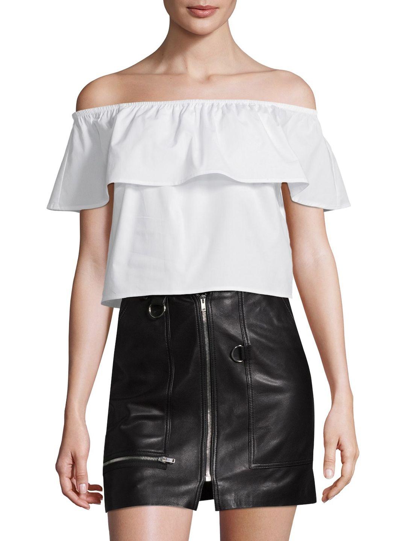 c50763999bd SPLENDID WOMEN'S COTTON OFF SHOULDER TOP - WHITE, SIZE L. #splendid #cloth #