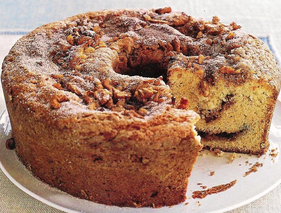 Sour Cream Coffeecake Our Sister S Kitchen Coffee Cake Coffee Cake Recipes Sour Cream Coffee Cake