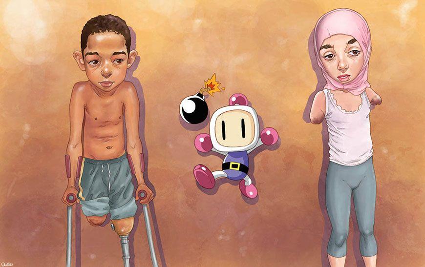 NSFW : 41 illustrations de Luis Quiles aussi trash et choquantes qu'éloquentes | le geek c'est chic