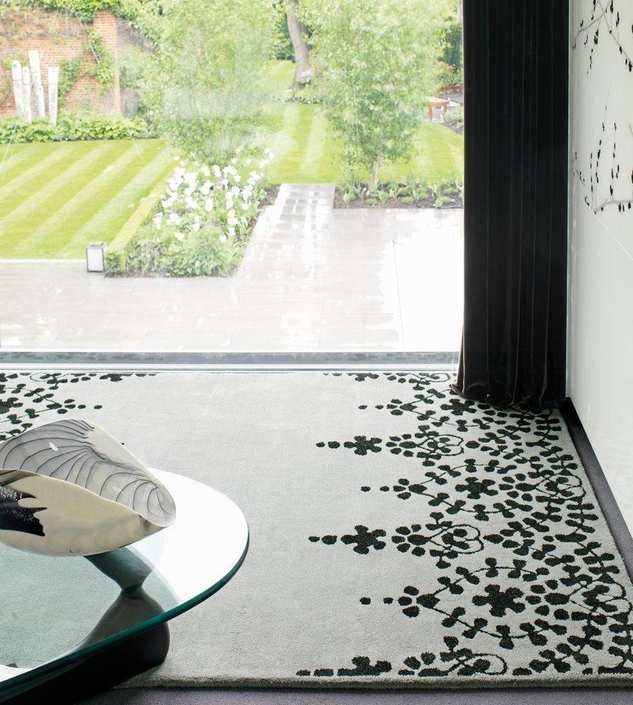 Teppich wohnzimmer carpet modernes design matrix guild blumen rug wolle günstig httpwww