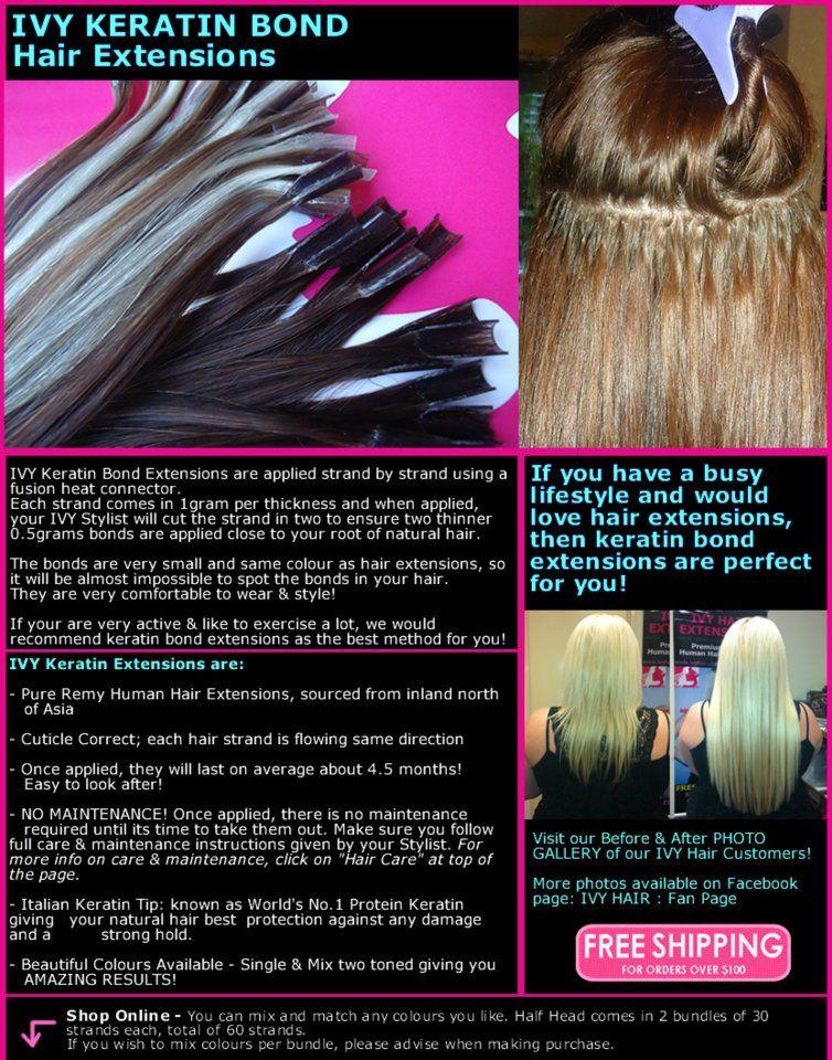 Httpivyhair Ivy Keratin Hair Extensions Pinterest
