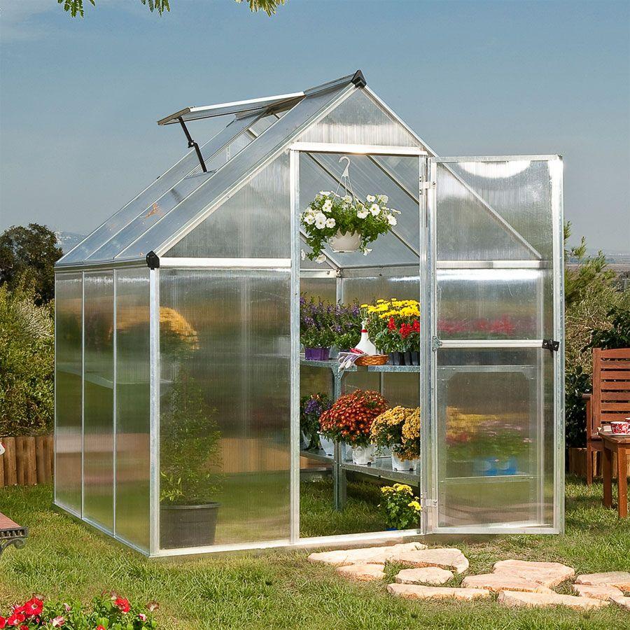 Nature Greenhouse 6\' x 6\' Silver