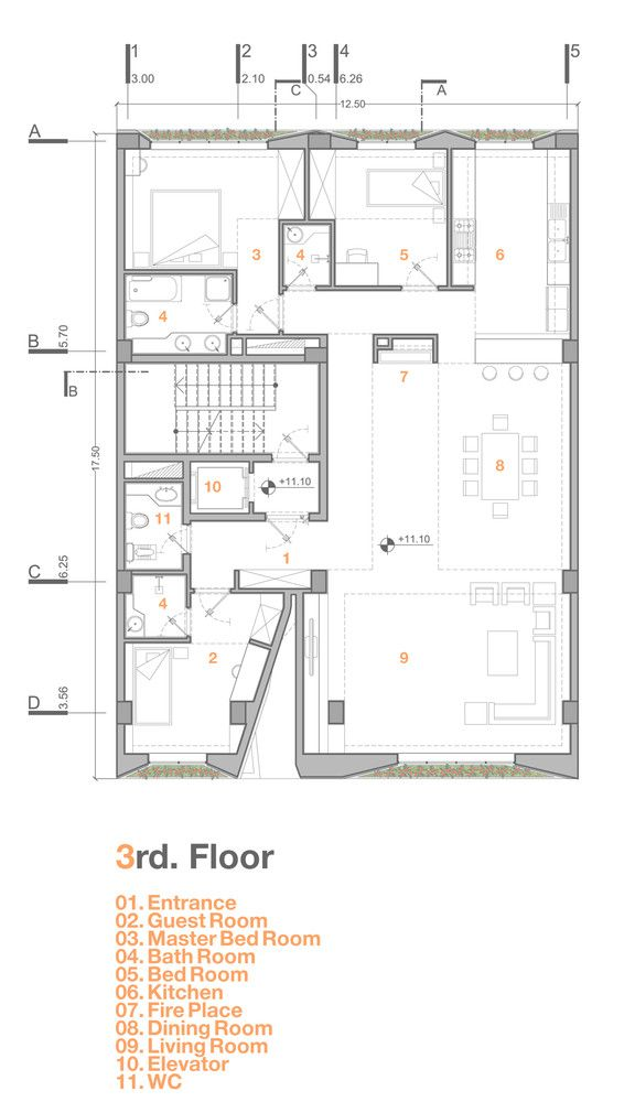 Gallery Of Afsharian S House Rena Design 19 Architectural Floor Plans Architect Design House Floor Plans