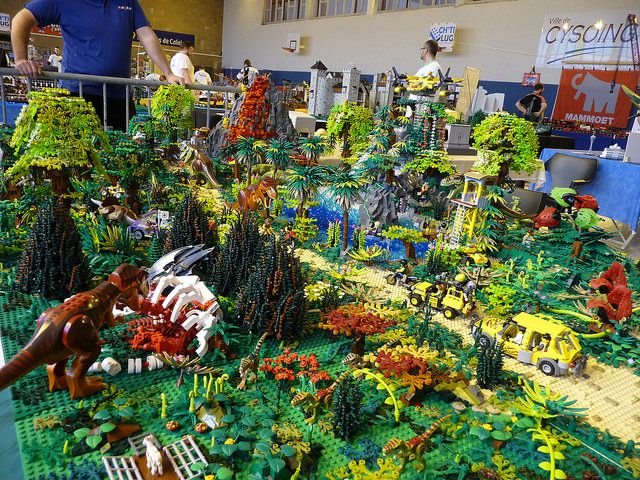Jurassic park in lego impressive lego customs pinterest dinosaure jurassique and lego - Jeux lego dino ...