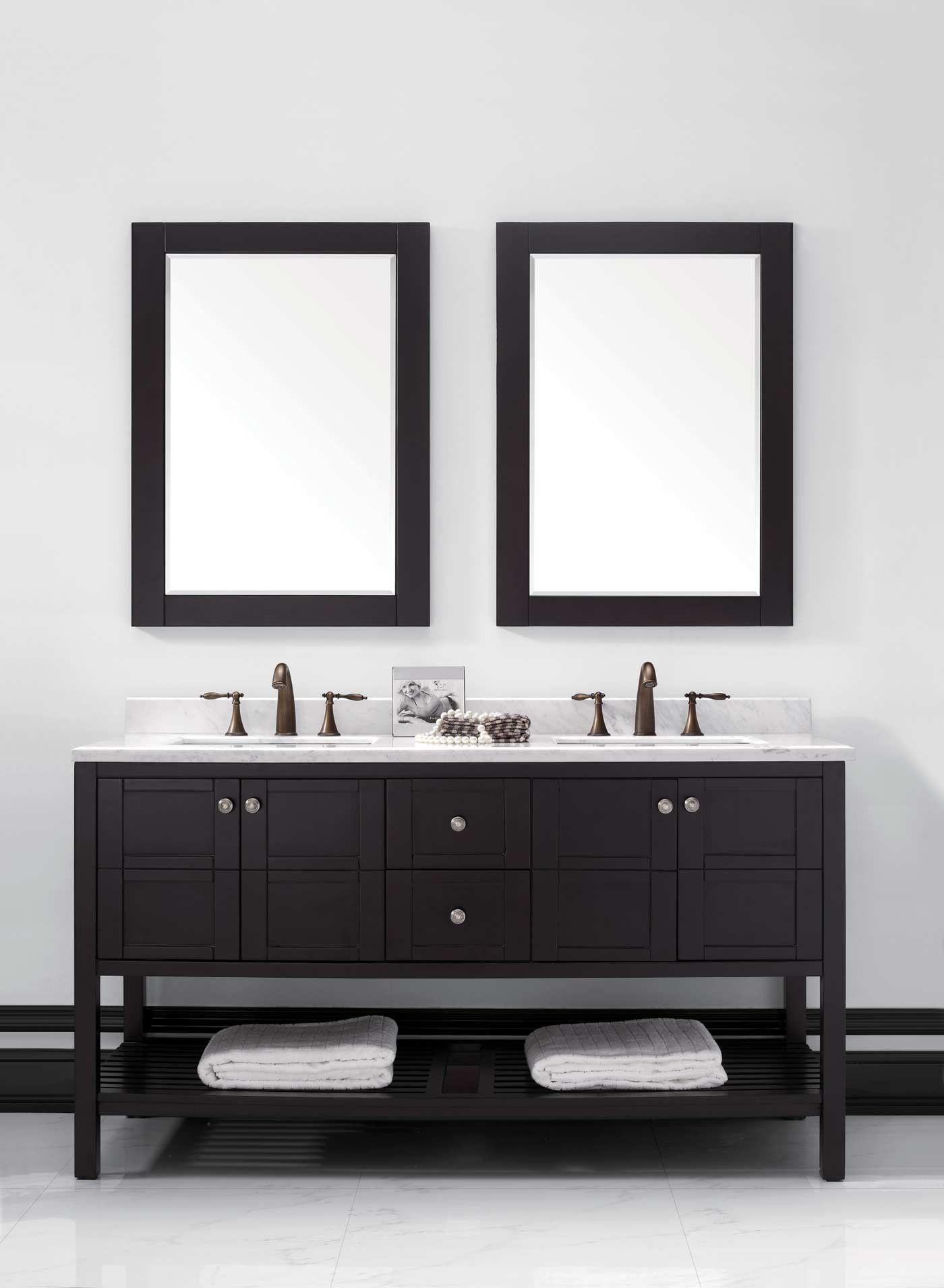 Trento 60 Double Bathroom Vanity Vanity Buy Bathroom Vanity