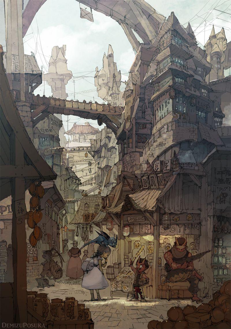 今日は市が立つ」/「ポ~ン(出水ぽすか)」のイラスト [pixiv