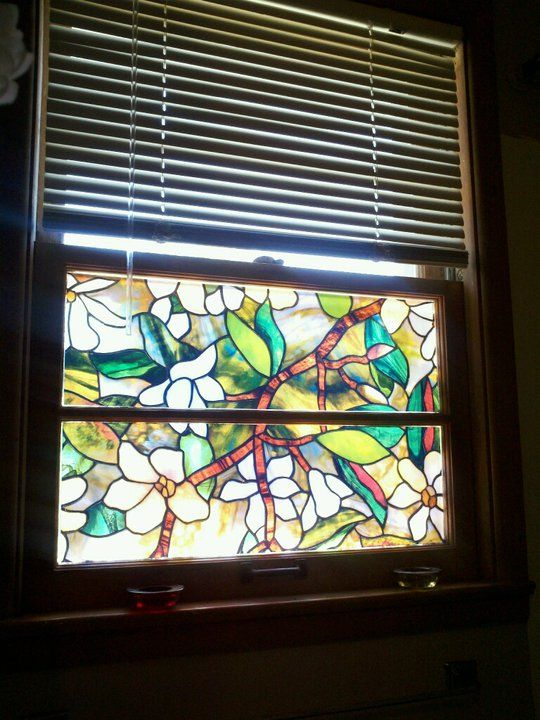 Love This Stained Glass Privacy Film Sold At Home Depot Did The Bathroom Window And Two Windows In The Li Stained Glass Window Film Window Films Window Film