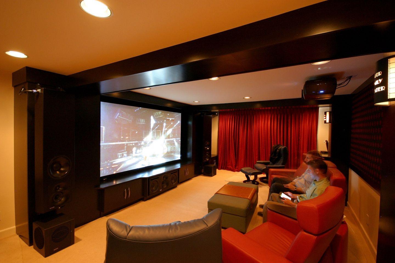 Garage home theater ideas decor