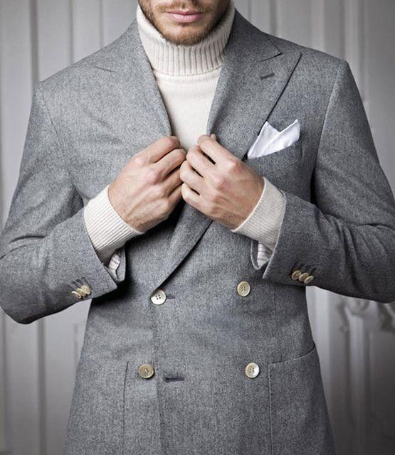 turtleneck underneath suit