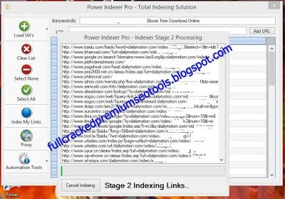 full version premium seo tools free download: Power Indexer Pro Free