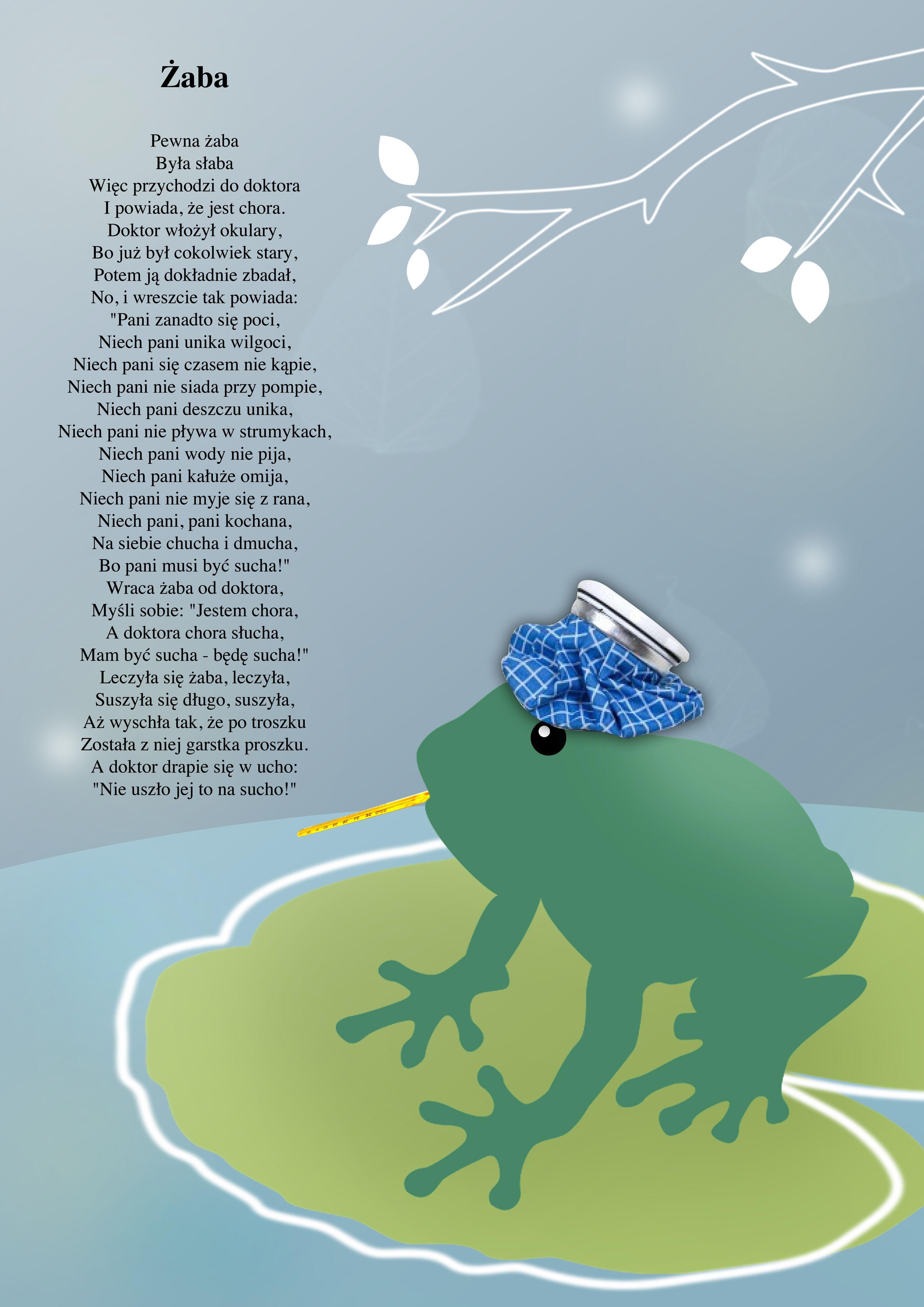 Ilustracja Do Wiersza żaba Jana Brzechwy Projekt