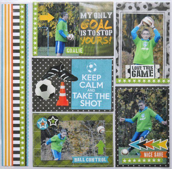 Soccer Pocket Page - Scrapbook.com