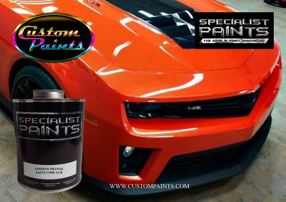 Chevrolet Inferno Orange Paint Code Gcr Urethane Based Automotive Camaro Ebay Link