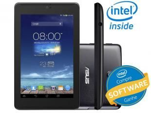 "Tablet Asus Fonepad 7 8GB Tela 7"" 3G Wi-Fi - Android 4.2 Proc. Intel Atom Dual Core Câmera 5MP"