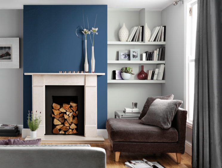 Pair Colours With Confidence With Our New Palette Vintage Denim Available In Washab Living Room Furnishings Interior Design Living Room Warm Living Room Color