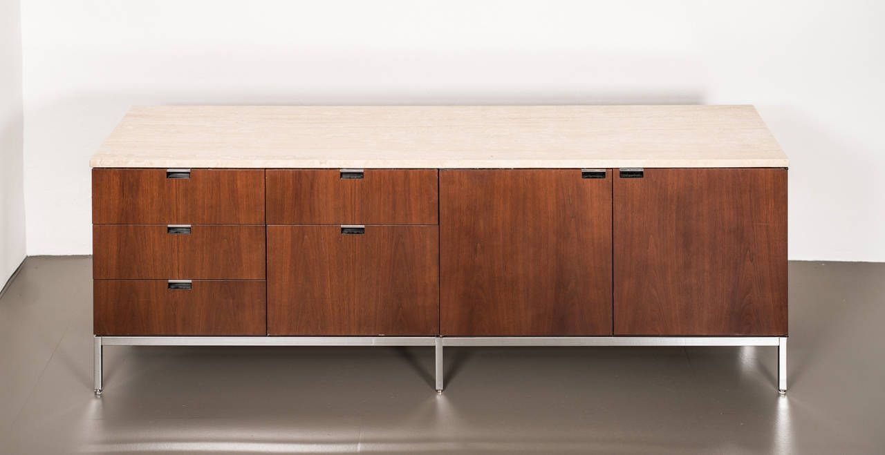 Florence Knoll - sideboard - Knoll International | From a unique collection of antique and modern sideboards at https://www.1stdibs.com/furniture/storage-case-pieces/sideboards/