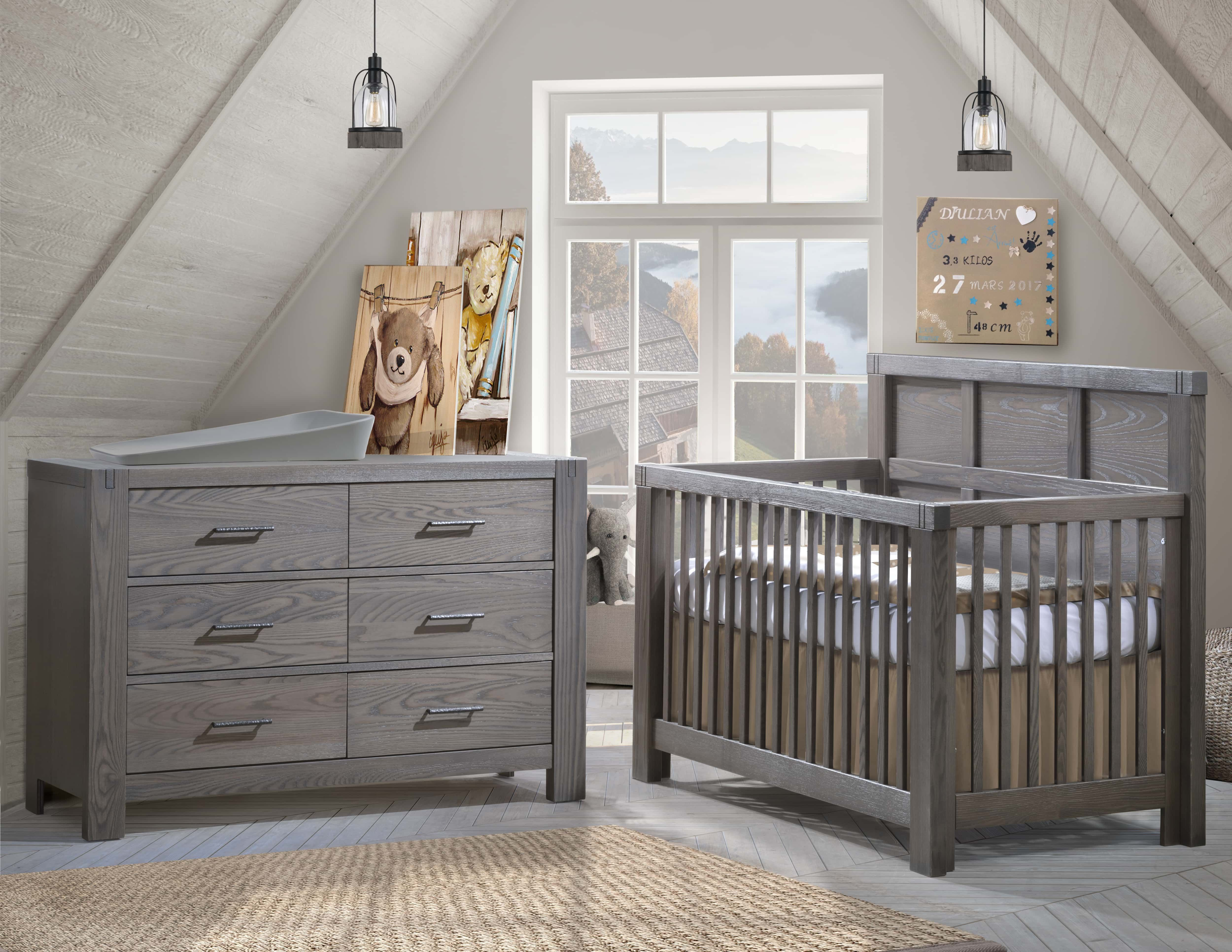 A Beautiful Rustic Solid Wood Nursery Set The Newest Finish