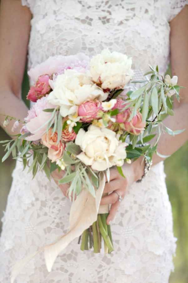 Bridal Bouquets and Wedding Flowers: Pink, white and green bouquet