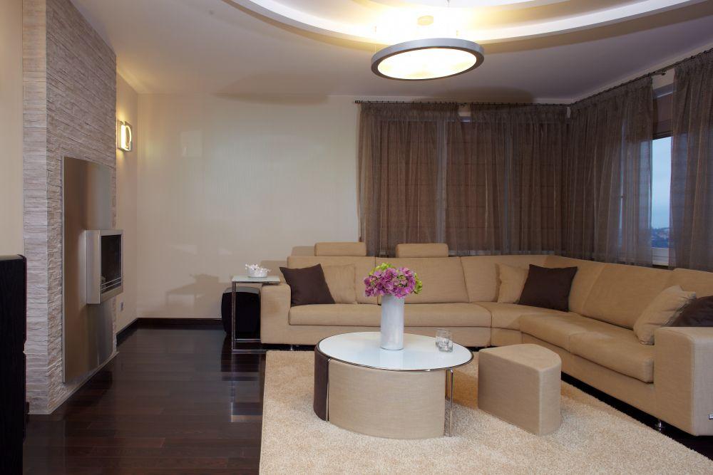 Ash Wenge hardwood flooring in modern living room | Wood ...