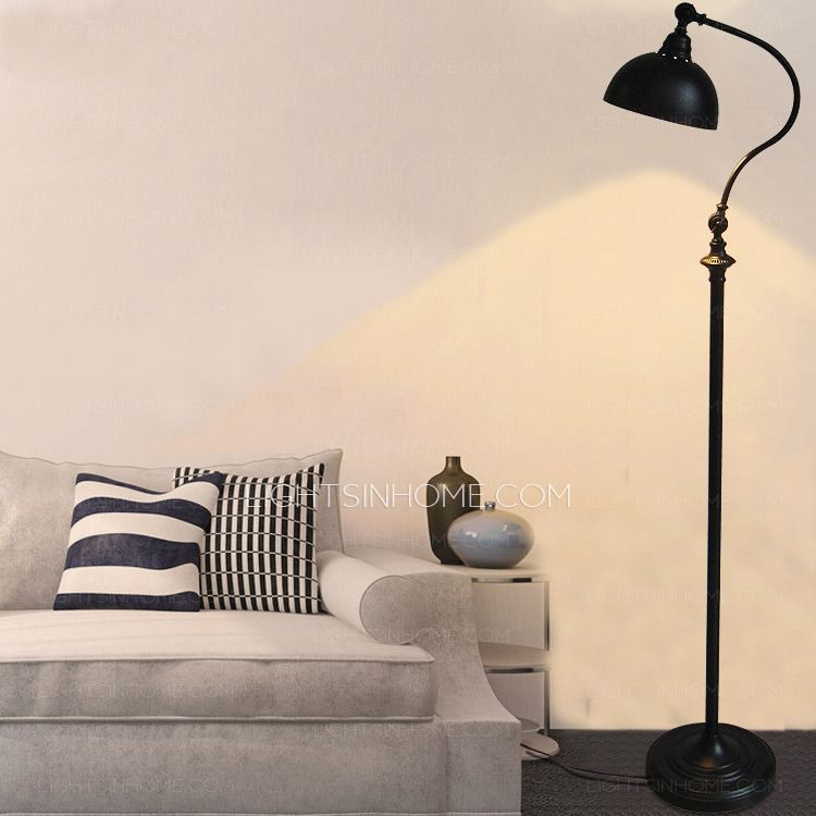 Pastoral Simple Black Wrought Iron Adjustable Floor Lamps Iron Floor Lamp Adjustable Floor Lamp Floor Lamps Living Room Black wrought iron floor lamps