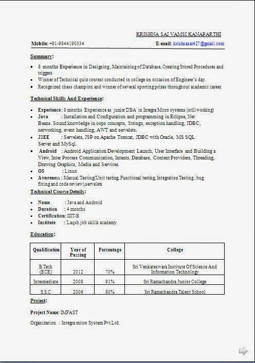 Curriculum Vitae Ejemplos Pdf Sample Template Example Of Excellent